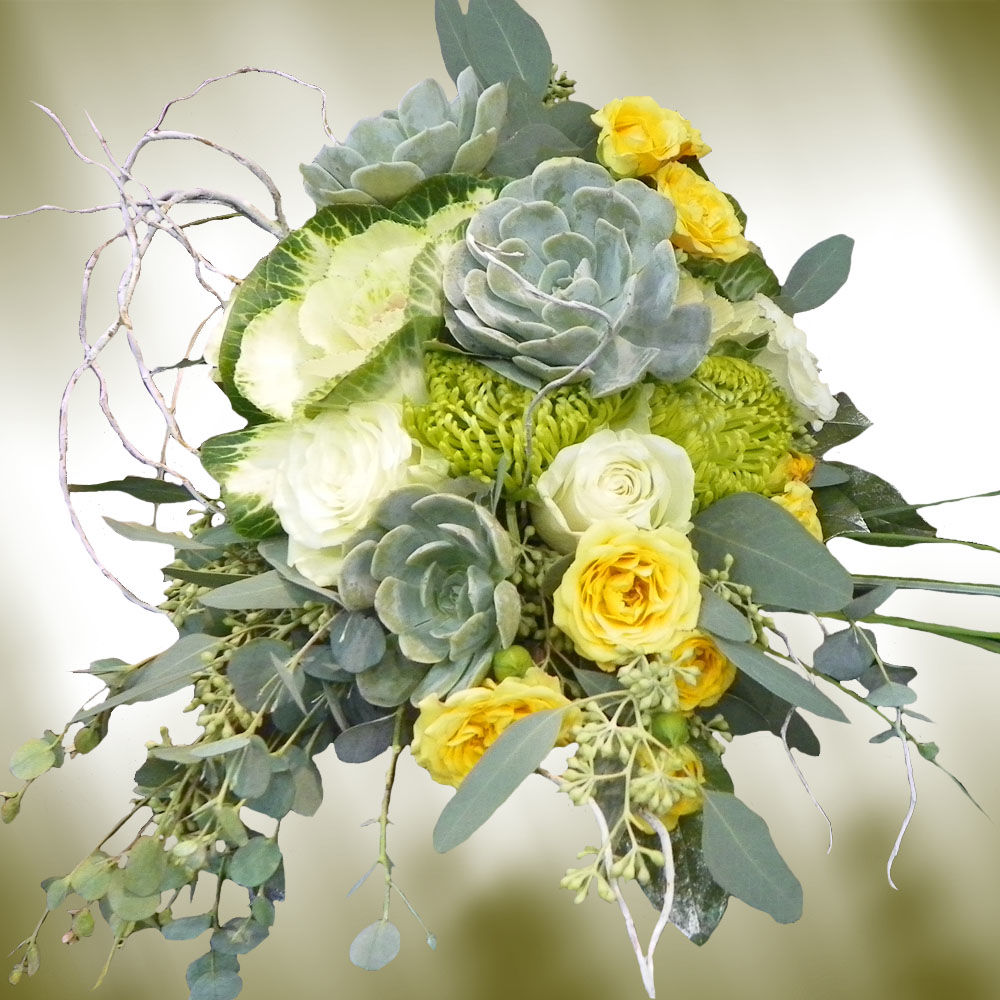 Bridal Bouquets With Cabbage Roses : Bridal bouquet photos