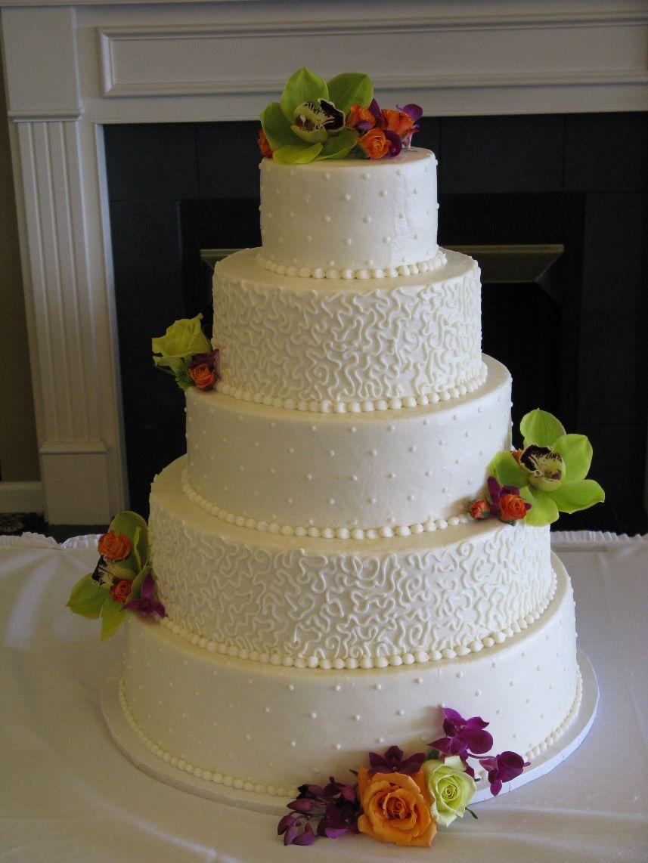 Wedding Cake Floral Decorations